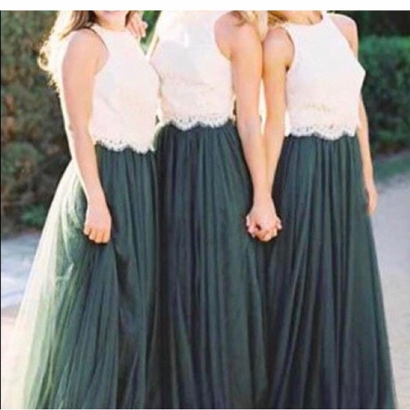 revelry Dresses & Skirts - ❗️Sale NWT Cream Green Prom Wedding Formal Dress